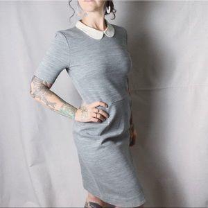 J. CREW Peter Pan Collar Wool Blend Silk Dress